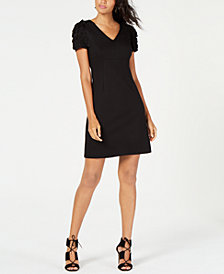 Trina Turk Deb Embellished-Sleeve Shift Dress