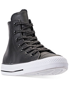 Converse Women's Chuck Taylor All Star Leather High Top Casual Sneakers from Finish Line