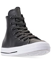 f09fd23a50b4 Converse Women s Chuck Taylor All Star Leather High Top Casual Sneakers  from Finish Line