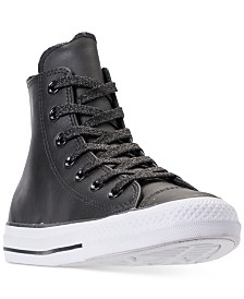 a304bee18df12e Converse Women s Chuck Taylor All Star Leather High Top Casual Sneakers  from Finish Line