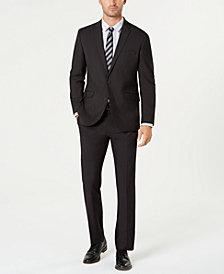 Kenneth Cole Reaction Men's Techni-Cole Slim-Fit Stretch Black Micro-Dot Suit