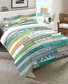 Laural Home Ocean Rules  Twin Comforter