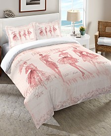 Laural Home Fashion Sketchbook Twin Comforter