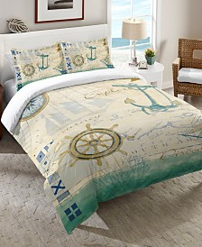 Laural Home Mariner Sentiment  Twin Comforter