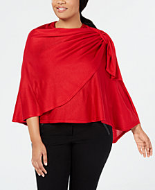 I.N.C. Pull-Through Bow Plus-Sized Wrap, Created for Macy's