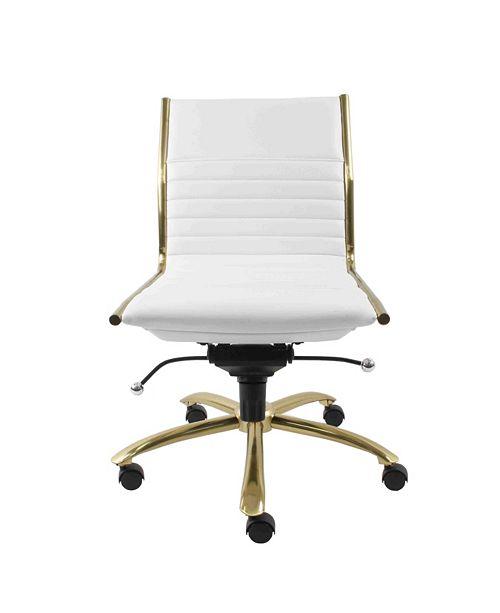 Astounding Dirk Leather Low Back Office Chair Quick Ship Creativecarmelina Interior Chair Design Creativecarmelinacom