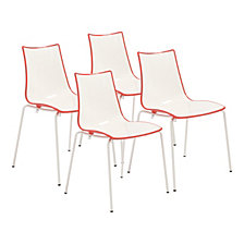 Zebra Side Chair (Set Of 4), Quick Ship