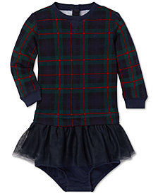Polo Ralph Lauren Baby Girls Plaid Sweatshirt Dress
