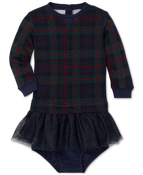 3ff34e38b Polo Ralph Lauren Baby Girls Plaid Sweatshirt Dress   Reviews ...