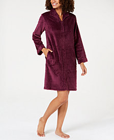 Miss Elaine Jacquard Cuddle Fleece Zip Robe
