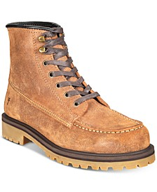 Men's Pine Lug Leather Work Boots, Created for Macy's