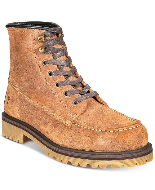 Frye Men's Pine Lug Leather Work Boots, Created for Macy's