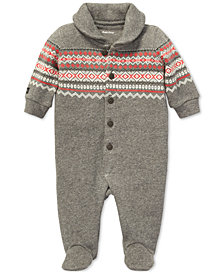 Polo Ralph Lauren Baby Boys Fair Isle Cotton Coverall