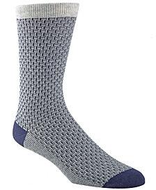 Cole Haan Men's Textured Crew Socks