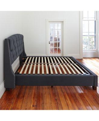 ... Sleep Trends Europa Queen Wood Slat And Metal Platform Bed Frame ...