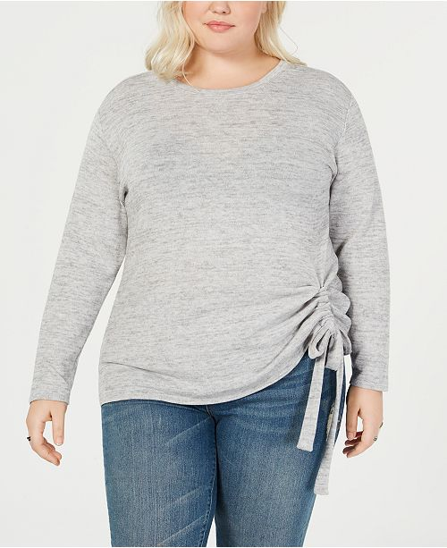 INC International Concepts I.N.C. Plus Size Tunnel-Tie Top, Created for Macy's