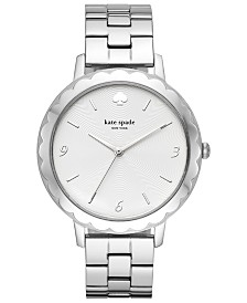 kate spade new york Women's Metro Scallop Stainless Steel Bracelet Watch 38mm