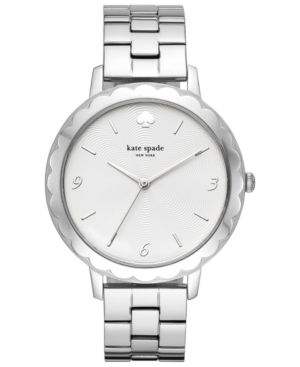Metro Scallop Stainless Steel Bracelet Watch in Silver from Kate Spade