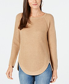 INC Waffle-Knit Side-Zip Tunic Sweater, Created for Macy's