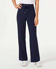 Charter Club Petite Wide-Leg Pull-On Pants, Created for Macy's