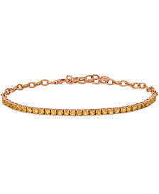 Le Vian® Cinnamon Citrine® (2 ct.t.w.) Adjustable Bracelet set in 14k rose gold