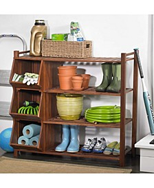 4-Tier Outdoor Shoe Rack Cubby