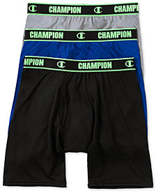 Champion Men's 3-Pk. Active Long Boxers