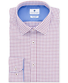 Ryan Seacrest Distinction™ Men's Ultimate Slim-Fit Non-Iron Performance Stretch Check Dress Shirt, Created for Macy's