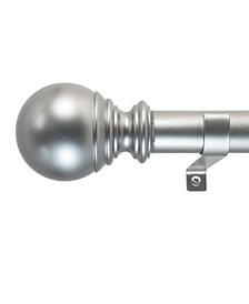 Decopolitan 1-Inch Ball Telescoping Curtain Rod Set, 18 to 36-Inch, White