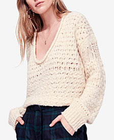 Free People Crashing Waves Open-Knit Sweater