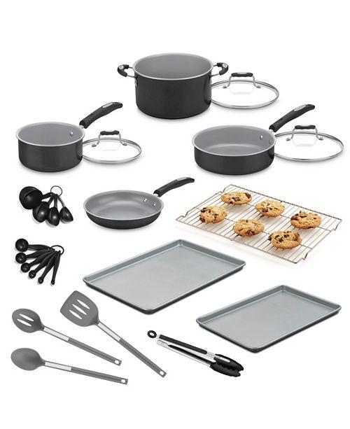 Cuisinart 24-Pc. Aluminum Cookware Set, Created for Macy\'s ...
