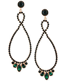GUESS Twist Multi-Stone Statement Drop Earrings