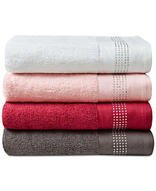 LAST ACT! Urban Habitat Rhinestone Border Bath Towel Collection, Created for Macy's