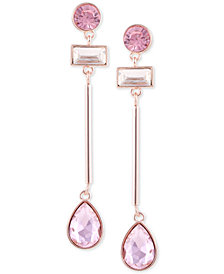 GUESS Crystal & Stone Linear Drop Earrings