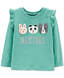 Carter's Toddler Girls Besties-Print Cotton T-Shirt