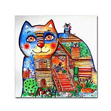 Oxana Ziaka 'Russian Tale Cat' Canvas Art Collection
