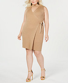 Say What? Trendy Plus Size Cutout Wrap Dress
