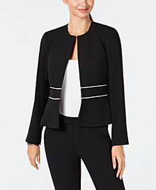 Tommy Hilfiger Collarless Moto Jacket