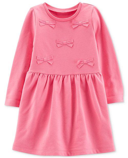 Carter's Toddler Girls Cotton Pink Bow Dress