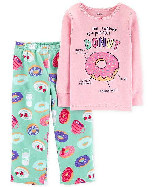 14e0b43c49 Carter s Toddler Girls Donut-Print Pajamas. This product is currently  unavailable