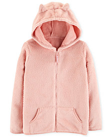 Carter's Little & Big Girls Faux-Sherpa Zip-Up Hoodie