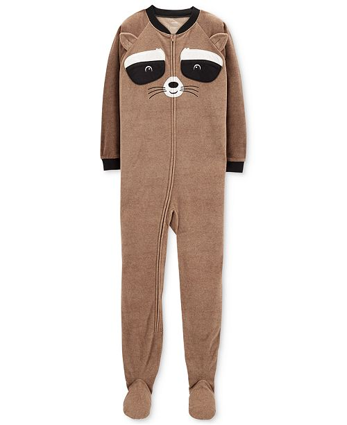 b422f2ff6f Carter s Little   Big Boys Raccoon-Face Footed Pajamas - Pajamas ...