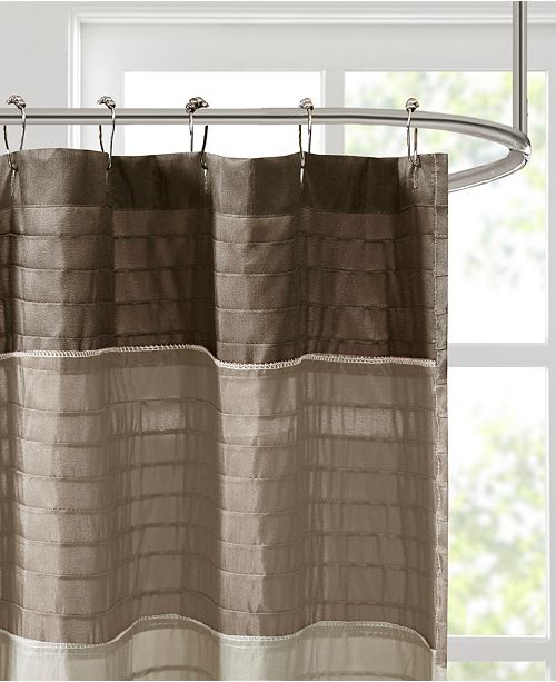 Madison Park Amherst Colorblocked 108 X 72 Faux Silk Shower