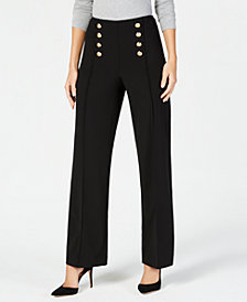 I.N.C. Petite Wide-Leg Sailor Pants, Created for macy's