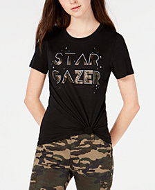 Modern Lux Juniors' Star Gazer Metallic Graphic T-Shirt