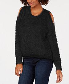 Ultra Flirt By Ikeddi Juniors' Cold Shoulder Sweater
