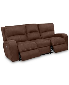 """CLOSEOUT! Brant 86"""" Dual Power Motion Fabric Sofa"""