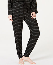 Alfani Textured Stripe Jogger Pajama Pants, Created for Macy's