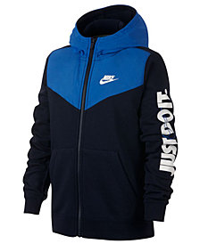 Nike Big Boys Zip-Up Logo Hoodie