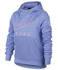 Nike Big Girls Therma Logo-Print Training Pullover Hoodie